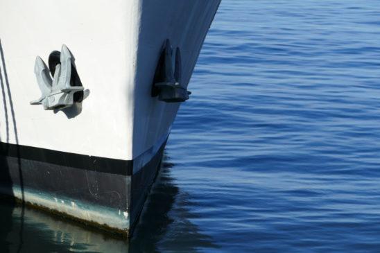 barco ancla proa mar puerto azul calma – Photo Galeria